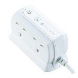 SRGD42W-MPA Masterplug Surge Compact Extension Lead - 4 Socket