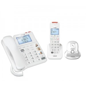 CL6247-PA Vtech Digital Corded-Cordless Phone Combo with Pendant