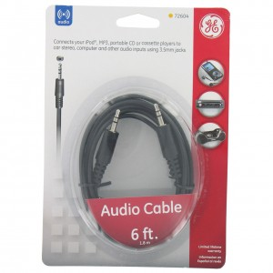 GE 3.5mm Audio Cable 1.8m