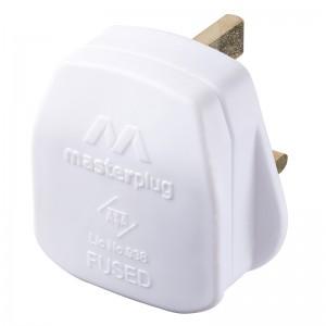 PT13W Masterplug Basics Rewireable Plug White