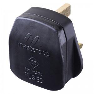 PT13B Masterplug Basics Rewireable Plug Black