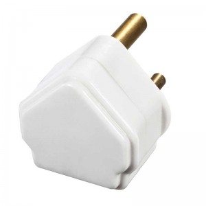 PT15W Masterplug Basics Rewireable Round Pin Plug White