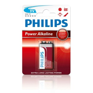 Philips Blister Pack 9V Power Alkaline Battery