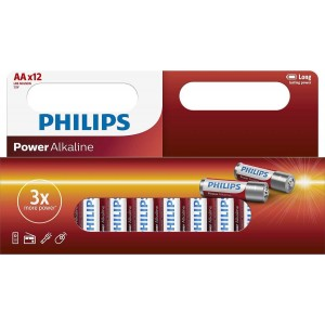 Philips Window Pack 12xAA Size Power Alkaline Battery