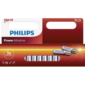 Philips Window Pack 12xAAA Size Power Alkaline Battery