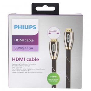Philips Braided with Gold Plated Connector HDMI Cable 1.8M