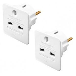 TAEUR/2 Masterplug Travel Adaptors (UK to Europe) Twin Pack