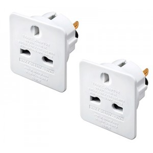 TAUSA/2 Masterplug Travel Adaptors (UK to USA) Twin Pack
