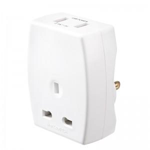 TAUSBUSA2 Masterplug Travel USB Adaptor (UK to US)