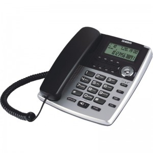 AS7401 Silver Deluxe CID High Quality Speaker Phone 8 Direct Memory Hotel Platform Voice Message Waiting Lamp Corded Phone