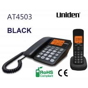 AT4503 Black Big Number Display and Big Button Keypad Combo Phone