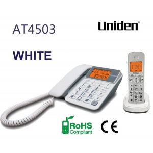 AT4503 White Big Number Display and Big Button Keypad Combo Phone