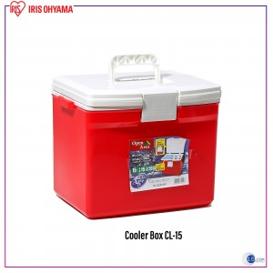 Iris Ohyama Japan Portable Cooler Box, Camping Box, Fishing Box CL-15 (RED)