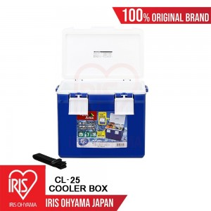 Iris Ohyama Japan Portable Cooler Box, Camping Box, Fishing Box CL-25 (Blue)