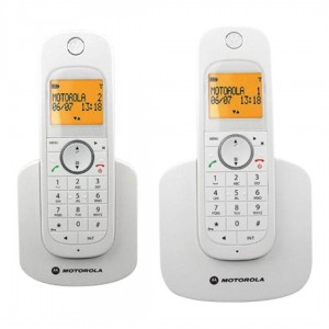 D1002 White Digital Twin Cordless Telephone