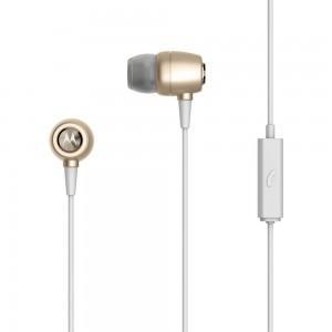 Earbuds Metal In-Ear Wired Headphones Gold