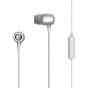 Earbuds Metal In-Ear Wired Headphones Silver